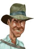 De karikatuur van Indiana Jones stock illustratie