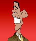 De Karikatuur van Obama vector illustratie