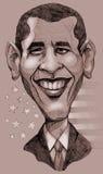 De karikatuur van Obama royalty-vrije illustratie