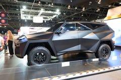 De Karlmann-Koningsauto is bij de de Motorshow 2017 van Doubai Stock Fotografie
