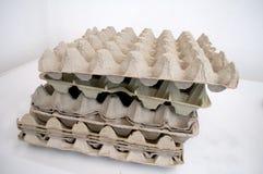 De kartonhouder van 30 eieren fotografeerde kort voor middernacht Royalty-vrije Stock Foto