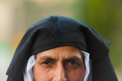 De Kasjmier MoslimVrouw stelde Onthulde Burqa bloot Royalty-vrije Stock Afbeelding