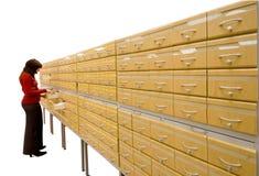 De kast van het archief stock fotografie