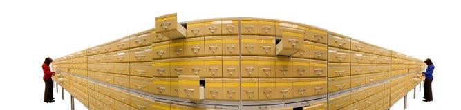 De kast van het archief stock afbeelding