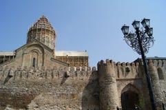 De kasteel-kathedraal van Svetitskhoveli Stock Foto's