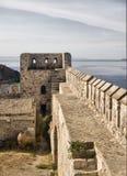 De kasteelmuren van tenedos Stock Foto