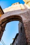 De kasteelpoort van Bassano Del Grappa stock afbeeldingen
