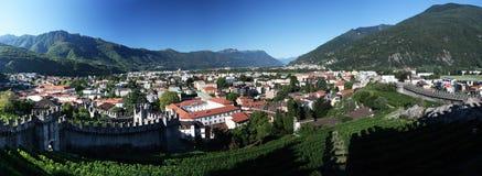 De kastelen van Belinzona Stock Foto's