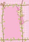 De kat beklimt Kabel Stock Afbeelding