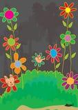 De kat beweert Flower_eps Stock Afbeeldingen