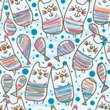 De kat legt katten naadloos patroon vector illustratie