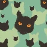 De kat leidt patroon Stock Afbeeldingen