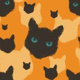 De kat leidt patroon Stock Foto
