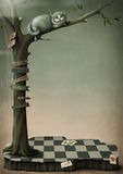 De Kat van Cheshire van de affiche van de fantasie Royalty-vrije Stock Afbeelding