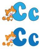De kat van de brief C Royalty-vrije Stock Foto