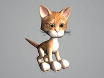 De Kat van de Gestreepte kat van het beeldverhaal royalty-vrije illustratie