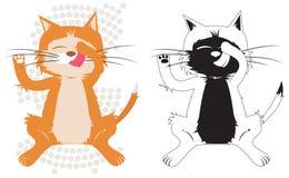 De kat van de pot Stock Afbeelding