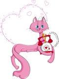 De kat van de valentijnskaart Royalty-vrije Stock Fotografie