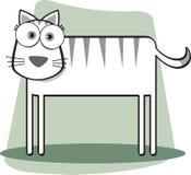 De kat van het beeldverhaal Stock Fotografie