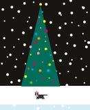 De Kat van Kerstmis Stock Fotografie
