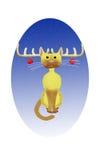 De kat van Kerstmis stock illustratie
