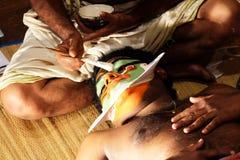` De Kathakali de maquillage - ` Kichaka Vadham le massacre du ` de Kichaka Image libre de droits