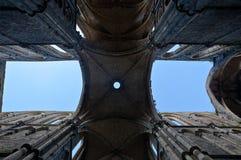 De kathedraal Abbey Villers la Ville, België van ruïneskluizen royalty-vrije stock afbeelding
