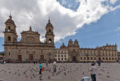 De Kathedraal Bogota Colombia van Primada Royalty-vrije Stock Foto's