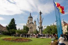 De Kathedraal Cluj van Orthdox Stock Afbeeldingen