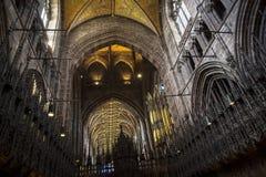 De Kathedraal of de Munster in Chester England stock afbeeldingen