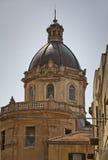 De Kathedraal van de Stad van Alcamo. royalty-vrije stock foto's