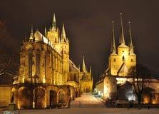 De kathedraal Duitsland van Erfurt Stock Foto