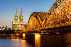 De Kathedraal Duitsland van Keulen Stock Afbeeldingen