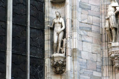 De kathedraal Duomo, Koepel, de details van Milaan van Eva Stock Afbeeldingen
