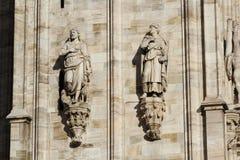 De kathedraal Duomo, Koepel van Milaan, Stock Foto