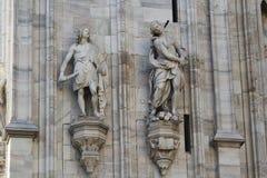 De kathedraal Duomo, Koepel van Milaan, Stock Fotografie