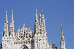 De kathedraal Duomo, Koepel van Milaan Stock Afbeeldingen
