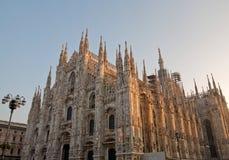 De Kathedraal Duomo van Milaan Stock Foto's