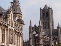 De Kathedraal en de Architectuur van Gent Stock Afbeelding