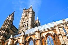 De kathedraal en de torens van Lincoln Stock Fotografie