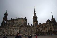 De Kathedraal en het Kasteel van Dresden stock foto's