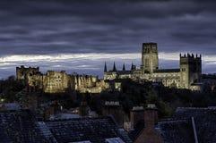 De Kathedraal en het Kasteel van Durham Stock Afbeeldingen