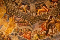 De Kathedraal Florence van Duomo van de Koepel van de Fresko van Vasari stock afbeeldingen