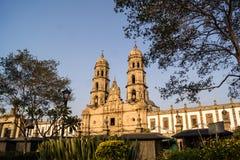 De Kathedraal Jalisco Mexico van Guadalajara Zapopan Catedral Stock Foto's