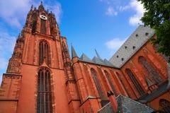 De Kathedraal Kaiserdon St Bartholomaus van Frankfurt royalty-vrije stock afbeeldingen