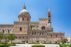 De Kathedraal Metropolitaanse Kathedraal van Palermo van de Veronderstelling van Maagdelijke Mary in Palermo, Sicilië, Italië Stock Afbeelding