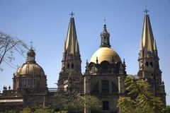 De Kathedraal Mexico van Guadalajara Stock Foto