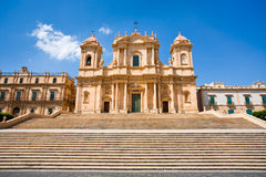 De kathedraal in Noto, Sicilië, Italië Royalty-vrije Stock Afbeeldingen