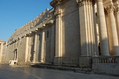 De kathedraal in Ortygia, Syracuse, Sicilië Stock Fotografie