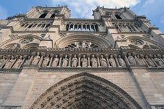 De Kathedraal Parijs van Notre Dame stock afbeeldingen